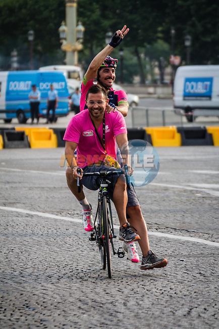 Jose Rodolfo Serpa Perez (COL) of Lampre-Merida after finishing, Tour de France, Stage 21: Évry > Paris Champs-Élysées, UCI WorldTour, 2.UWT, Paris Champs-Élysées, France, 27th July 2014, Photo by Pim Nijland