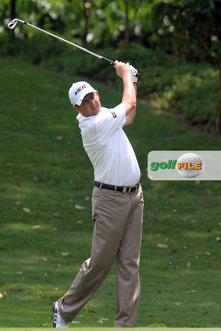Peter Lawrie (IRL) on the 2nd on the Pro Am Day of the 2013 Maybank Malaysian Open, Kuala Lumpur Golf and Country Club, Kuala Lumpur, Malaysia 20/3/13...(Photo Jenny Matthews/www.golffile.ie)