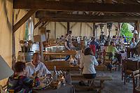 Europe/France/2A/Corse du Sud/Levie : Ferme-Auberge: A PIgnata, la terrasse du restaurant