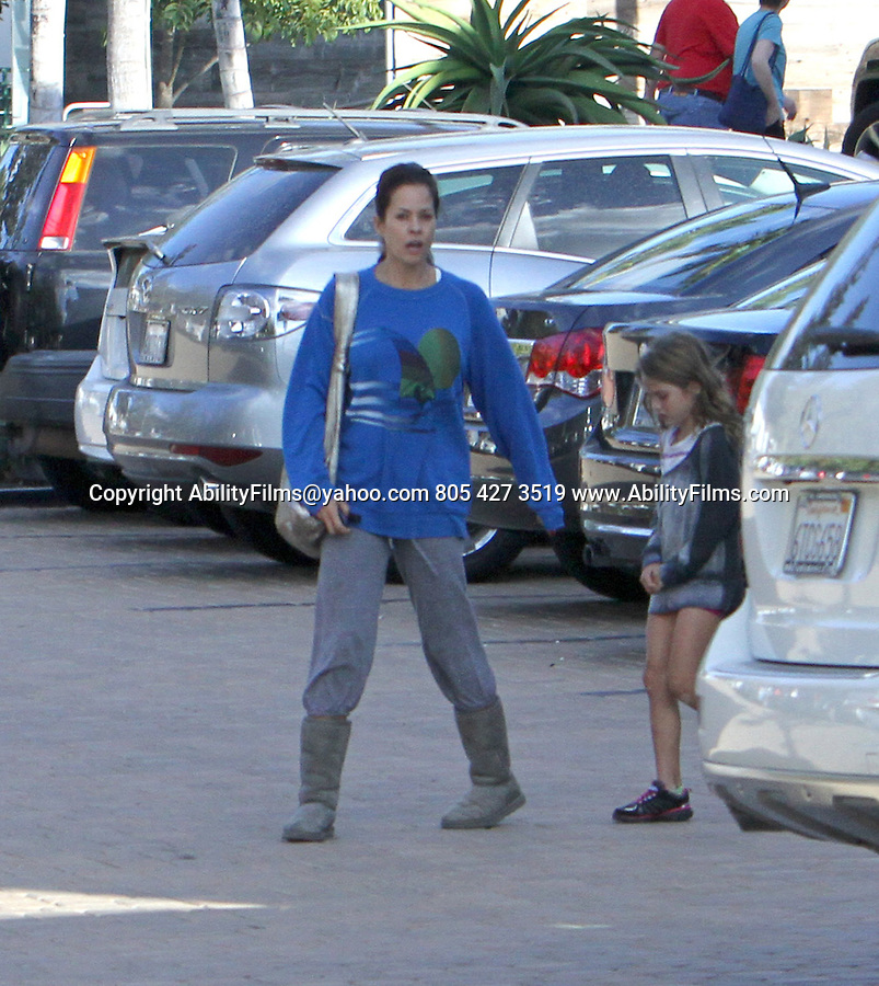 October 12th 2012   Exclusive <br /> <br /> <br /> Brooke Burke &amp; husband David Charvet took their kids to a birthday party at the Malibu Art Barn at the Lumber yard shopping center in Malibu California. <br /> <br /> Brooke had no Makeup on carrying a big Gold silver purse handbag &amp; a blue sweater with a sail boat on it &amp; gray sweat pants with Ugg boots. <br /> <br /> Driving off in a new black Maserati sports car <br /> <br /> Kids Neriah Fisher<br /> Heaven Rain<br /> Sierra Sky Fisher<br /> Shaya Braven<br /> <br /> <br /> <br /> AbilityFilms@yahoo.com<br /> 805 427 3519<br /> www.AbilityFilms.com