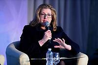 "Washington, DC - April 21, 2018: U.K. Secretary of State for International Development Penny Mordaunt participates in a panel discussion on ""Building Human Capital"" at the World Bank Group in Washington, DC April 21, 2018, as part of the IMF/World bank Spring Meetings.  (Photo by Don Baxter/Media Images International)"