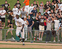 Mt. Carmel fans react as Malik Carpenter makes the final out at first base for a Mt. Carmel Championship