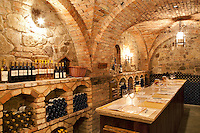 Wine tasting room at Castello di Amorosa. Napa Valley, California. Property relased
