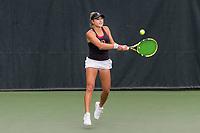 STANFORD, CA -- April 6, 2019. The Stanford Cardinal women's tennis team defeats the University of Washington Huskies 4-0 on Senior Day at the Taube Family Tennis Stadium.