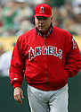 Mike Scioscia, of the Los Angeles Angels, in action against the Oakland A's during their game on April 22, 2006...Angels win 5-4..Rob Holt / SportPics