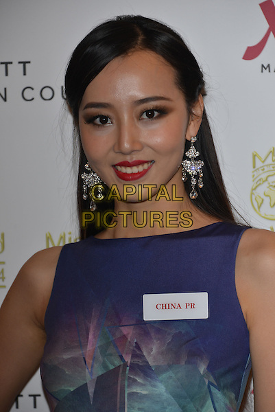 Miss China PR,   Du YANG<br /> photocall for Miss World 2014 contestants in central London, on November 25, 2014. This year's Miss World contest will take place in London on December 14, 2014<br /> CAP/PL<br /> &copy;Phil Loftus/Capital Pictures