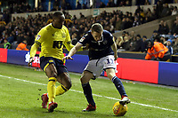 Ryan Nyambe of Blackburn Rovers and Shane Ferguson of Millwall during Millwall vs Blackburn Rovers, Sky Bet EFL Championship Football at The Den on 12th January 2019