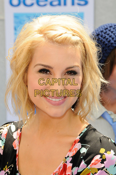 "CHELSEA STAUB.Arrivals - Disneynature's Premiere Of ""Oceans"" held At El Caitan Theatre, Hollywood, California, USA..17th April 2010.headshot portrait black pink floral print.CAP/ROT.©Lee Roth/Capital Pictures"