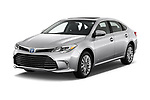 2017 Toyota Avalon Limited Hybrid 4 Door Sedan angular front stock photos of front three quarter view