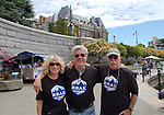 Race to Alaska, support crews prepare at dock, Inner Harbor, Victoria, British Columbia, for Ketchikan, Alaska, support craft, Race to Alaska volunteers,