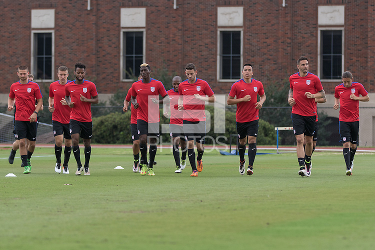 Dallas, TX. - May 23, 2016: The USMNT train in preparation for the 2016 Copa America Centenary at SMU Wescott Field.