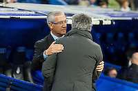 Mourinho and Gregorio Manzano salutation