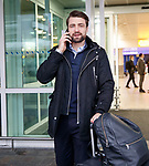 Russell Martin arrives at Glasgow airport to sign for Rangers
