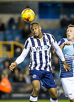 Shaun Cummings of Millwall during the Checkatrade Trophy round two Southern Section match between Millwall and Wycombe Wanderers at The Den, London, England on the 7th December 2016. Photo by Liam McAvoy.