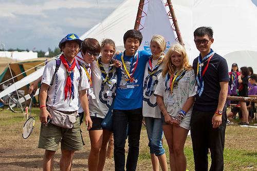 An international meeting between Korean and Swedish scouts. Photo: Kim Rask/Scouterna