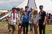 An international meeting between Korean and Swedish scouts. Photo: Kim Rask/Scouterna