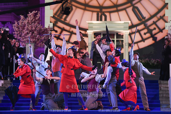 "LONDON, UK. December 12, 2018: performers at the UK premiere of ""Mary Poppins Returns"" at the Royal Albert Hall, London.<br /> Picture: Steve Vas/Featureflash"