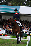 William Fox Pitt riding Parklane Hawk during day 2 of the dressage phase at the 2012 Land Rover Burghley Horse Trials in Stamford, Lincolnshire,UK.