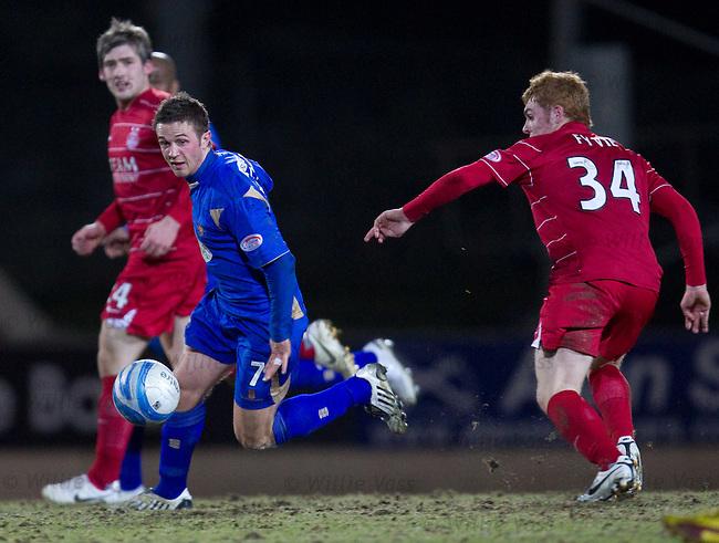 Chris Millar wrongfoots the Aberdeen midfield