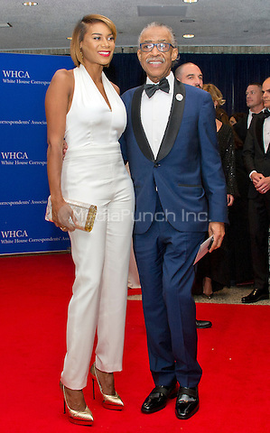 Aisha McShaw and Al Sharpton arrives for the 2016 White House Correspondents Association Annual Dinner at the Washington Hilton Hotel on Saturday, April 30, 2016.<br /> Credit: Ron Sachs / CNP<br /> (RESTRICTION: NO New York or New Jersey Newspapers or newspapers within a 75 mile radius of New York City)/MediaPunch