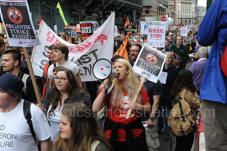 """London 20th June 2015 - The """"End Austerity Now"""" protest rally. <br /> <br /> <br /> Jeff Thomas Photography -  www.jaypics.photoshelter.com - <br /> e-mail swansea1001@hotmail.co.uk -<br /> Mob: 07837 386244 -"""