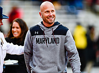 College Park, MD - OCT 27, 2018: Maryland Terrapins head coach Matt Canada during game between Maryland and Illinois at Capital One Field at Maryland Stadium in College Park, MD. The Terrapins defeated Illinois to move to 5-3 on the season. (Photo by Phil Peters/Media Images International)