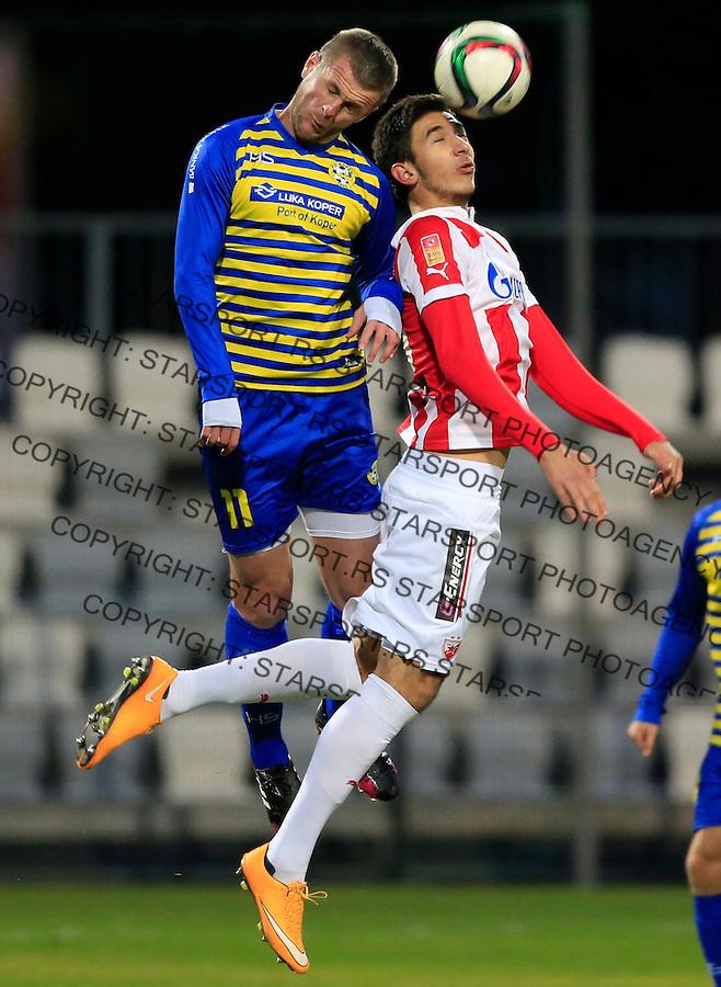 Fudbal Jelen Super League season 2014-2015<br /> Slovenia pripreme <br /> Crvena Zvezda v Koper<br /> Marko Grujic (R)<br /> Koper, 27.01.2015.<br /> foto: Srdjan Stevanovic/Starsportphoto&copy;