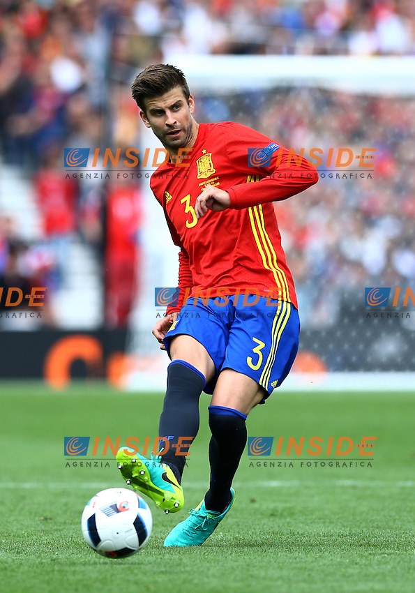 Gerard Pique Spagna<br /> Toulouse 13-06-2016 Stade Municipal Footballl Euro2016 Spain - Czech Republic  / Spagna - Repubblica Ceca Group Stage Group D. Foto Matteo Ciambelli / Insidefoto