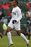 13 December 2009: Akron's Teal Bunbury. The University of Virginia Cavaliers defeated the University of Akron Zips 3-2 on penalty kicks after playing to a 0-0 overtime tie at WakeMed Soccer Stadium in Cary, North Carolina in the NCAA Division I Men's College Cup Championship game.