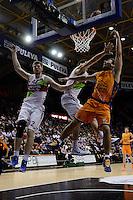 Van Rossom vs Shengelia &amp; Bertans<br /> Euroleague - 2014/15<br /> Regular season Round 4<br /> Valencia Basket vs Laboral Kutxa Vitoria