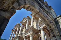 Michael McCollum.6/18/11.Celsus library in Ephesus , turkey