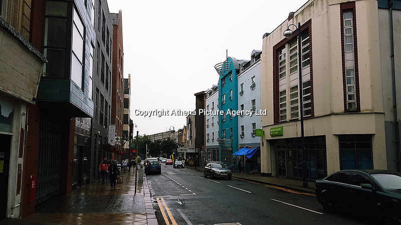 Pictured: High Street, Swansea. Saturday 15 July 2017<br /> Re: The Troublemakers Festival, on the High Street, Swansea, south Wales, UK.