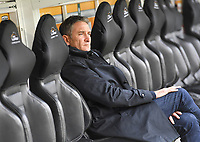 20191102 – Lens , France : Head coach Philippe Montanier of Lens pictured during a French Ligue 2 soccer game between Racing Club de Lens and FC Lorient , a football game on the 13th matchday in the French second league, on saturday 2 nd of November 2019 at the Stade Bollaert Delelis in Lens , France . PHOTO SPORTPIX.BE   DAVID CATRY