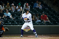 Danny Mendick (17) of the Winston-Salem Dash at bat against the Buies Creek Astros at BB&T Ballpark on April 15, 2017 in Winston-Salem, North Carolina.  The Astros defeated the Dash 13-6.  (Brian Westerholt/Four Seam Images)