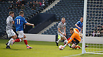 Fraser Aird gets to the rebound to score for Rangers