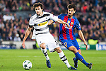 VfL Borussia Monchengladbach's Tobias Strobl, FC Barcelona's Andre Gomes during Champions League match between Futbol Club Barcelona and VfL Borussia Mönchengladbach  at Camp Nou Stadium in Barcelona , Spain. December 06, 2016. (ALTERPHOTOS/Rodrigo Jimenez)
