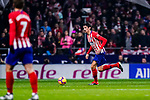 Stefan Savic of Atletico de Madrid (R) in action during the La Liga 2018-19 match between Atletico Madrid and FC Barcelona at Wanda Metropolitano on November 24 2018 in Madrid, Spain. Photo by Diego Souto / Power Sport Images