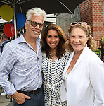 Steve Bakunas, Sarah Stern and Linda Lavin attends the Retirement Celebration for Sam Rudy at Rosie's Theater Kids on July 17, 2019 in New York City.