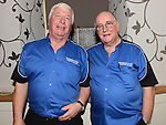 Sean Neilon and Ronnie Floyd pictured at the Eric Bristow and Keith Deller darts night at the Morning Star in Tullyallen. Photo:Colin Bell/pressphotos.ie
