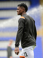 Blackpool's Armand Gnanduillet during the pre-match warm-up<br /> <br /> Photographer Chris Vaughan/CameraSport<br /> <br /> The EFL Sky Bet League One - Coventry City v Blackpool - Saturday 7th September 2019 - St Andrew's - Birmingham<br /> <br /> World Copyright © 2019 CameraSport. All rights reserved. 43 Linden Ave. Countesthorpe. Leicester. England. LE8 5PG - Tel: +44 (0) 116 277 4147 - admin@camerasport.com - www.camerasport.com
