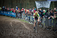 Wout Van Aert (BEL/Crelan-Vastgoedservice) leading over the mud<br /> <br /> 2016 Belgian National CX Championships