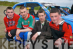 Car buffs: Alan O'Sullivan (14), Boherbue, John O'Sullivan (15), Boherbue, Kieran Reen (14), Rathmore and Darren Heelan (15) from Knocknagree who were all racing at the Hot Rod meeting in Lyreacrompane last Sunday afternoon.   Copyright Kerry's Eye 2008