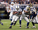 October 25, 2009 - St Louis, Missouri, USA - Colts running back Joseph Addai (29) carries the ball in the game between the St Louis Rams and the Indianapolis Colts at the Edward Jones Dome.  The Colts defeated the Rams 42 to 6.  ..