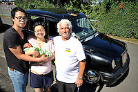 "VIDEO AVAILABLE<br /> Pictured: Kai Huang and his partner Qiuxia Chen who gave birth to their son Loeo in the back of a Swansea taxi cab, pictured with cabby Steve Storton. Baby Loeo was born at 6.45 on Sunday evening  in Sketty, Swansea on their way to hospital.<br /> Re: When taxi driver Stephen Storton embarked on his evening shift, he didn't expect one of his customers to give birth in the back of his car.<br /> But that is exactly what happened when the Data Cabs driver picked up Chinese pair Kai Huang and Quix India.<br /> He said he had never seen anything like it after years working as a taxi driver.<br /> ""It came up on the computer that there was a taxi booked in Townhill for 6.30pm so off I went.<br /> ""When I got there a guy came out and said that his wife was in labor.<br /> ""When I was driving to the hospital she screamed that the baby was coming and that she could feel the head.<br /> ""I then pulled over by the side of Vivian Road in Sketty and the baby was born at 6.45pm.""<br /> The baby's father Kai Huang described the moment he ""freaked out"" when his wife Quixia Chen gave birth to their son He said: ""I was really scary, I freaked out.<br /> ""My wife started experiencing some painful contractions so we phoned the hospital and they told us to get her to the hospital immediately.<br /> ""We then phoned a taxi and it arrived within five minutes.<br /> ""The baby came really quickly and half way to the hospital the driver had to pull over as the baby was born before the ambulance arrived.<br /> ""Both mother and baby are healthy now and the baby is called Loeo."""