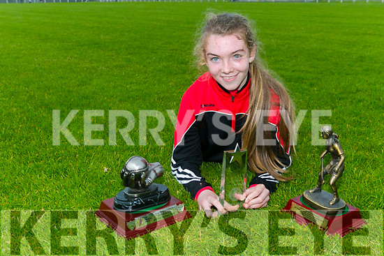 Amy O'Sullivan, Kilflynn, winner of the all Irelnd Skills Feile Champion 2017