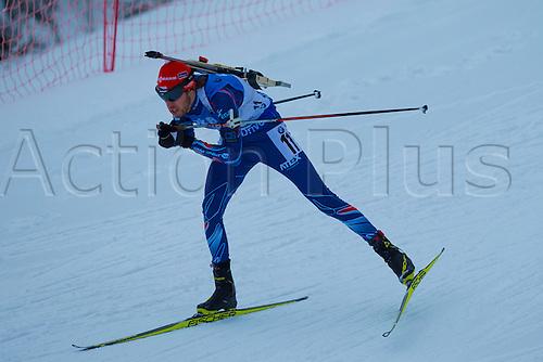 05.03.2016. Oslo Holmenkollen, Oslo, Norway. IBU Biathlon World Championships. Jaroslav Soukup of Czech Republic  competes in the men 10km sprint competition during the IBU World Championships Biathlon in Holmenkollen Oslo, Norway.