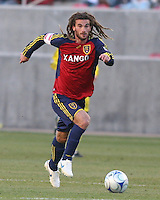 Real Salt Lake Midfielder Kyle Beckerman (5) in the Real Salt Lake 1-0 win over Columbus Crew in Game 1 of the Semi-Finals of the MLS Playoffs on October 31, 2009 at  Rio Tinto Stadium in Sandy, Utah