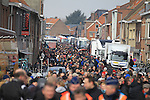 Huge crowds surround the team buses before the start of the 56th edition of the E3 Harelbeke, Belgium, 22nd  March 2013 (Photo by Eoin Clarke 2013)