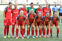 Portland, OR - Wednesday June 28, 2017: Thorns starting eleven during a regular season National Women's Soccer League (NWSL) match between the Portland Thorns FC and FC Kansas City at Providence Park.