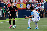 CD Leganes's Jonathan Silva and Atletico de Madrid's Kieran Trippier during La Liga match between CD Leganes and Atletico de Madrid at Butarque Stadium in Madrid, Spain. August 25, 2019. (ALTERPHOTOS/A. Perez Meca)